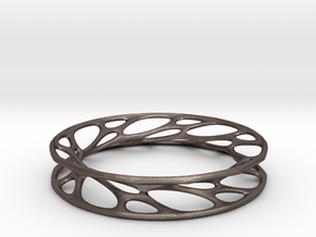Convolution Bangle in Stainless Steel: Small
