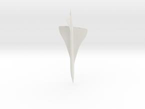 1:285 Concorde in White Natural Versatile Plastic