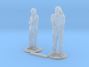 S Scale Standing People 6 in Smooth Fine Detail Plastic