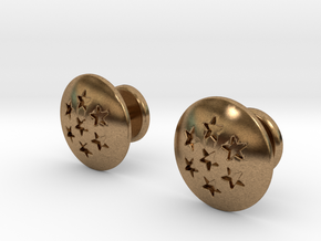 Dragon Ball - Capsule Cufflinks - V2 in Natural Brass