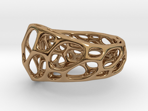 2-Layer Twist Ring in Polished Brass: 9 / 59