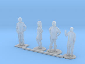 HO Scale Standing Kids 5 in Smooth Fine Detail Plastic