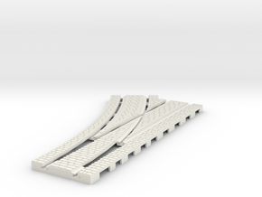 P-165stw-LEFT-point-250r-100-live-3a OO gauge in White Natural Versatile Plastic