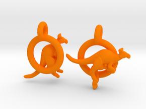 Kangaroos in Orange Processed Versatile Plastic