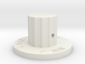 Flow Level Knob in White Natural Versatile Plastic