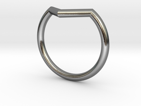 V Ring in Polished Silver: 7.75 / 55.875