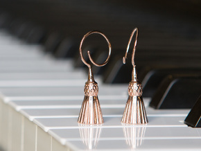 Tassels in 14k Rose Gold Plated Brass