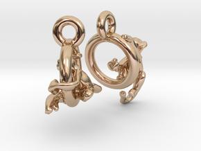 Monkeys On Rings in 14k Rose Gold Plated Brass