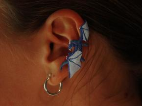 Dragon Cuff Earring Right in White Processed Versatile Plastic