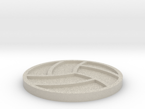 Volleyball Drink Coaster in Natural Sandstone