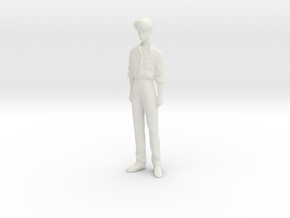1/24 Man in Casual Outfit in White Natural Versatile Plastic
