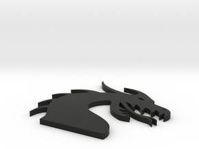 Dragon Head for Henry Morgan in Black Natural Versatile Plastic