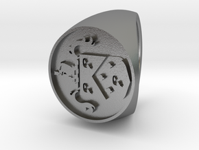 Custom Signet Ring 48 in Natural Silver