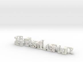 3dWordFlip: .The Best Labmate/Cheryl in White Strong & Flexible