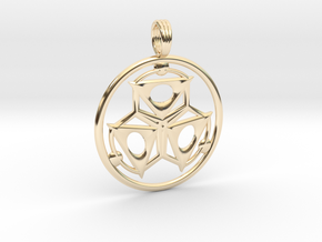 ELEMENT THREE in 14k Gold Plated Brass