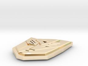Autobot/Decepticon Token in 14k Gold Plated Brass