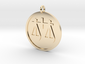 Scales Pendant in 14k Gold Plated Brass