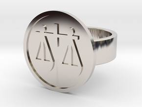 Scales Ring in Rhodium Plated Brass: 8 / 56.75