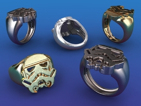 Strooper Ring - size 14 (US) in Polished Bronzed Silver Steel