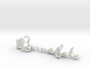 3dWordFlip: Bernadete/Douglas in White Natural Versatile Plastic