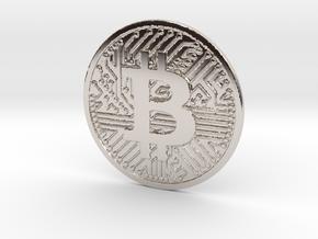 Bitcoin (2.25 Inches) in Platinum
