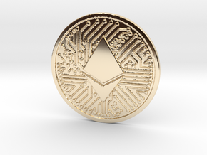 Ethereum (2.25 Inches) in 14k Gold Plated Brass