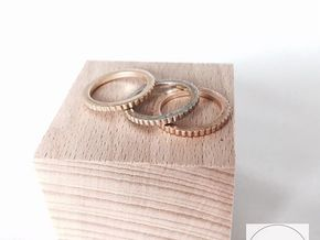 Ingranaggi Ring M/L 18mm in Polished Brass