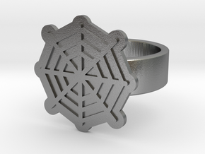 Spider Web Ring in Natural Silver: 8 / 56.75