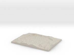 Model of Crater Lake in Natural Sandstone