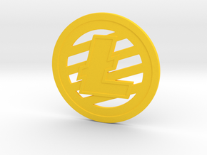 Litecoin (2.25 Inches) in Yellow Processed Versatile Plastic