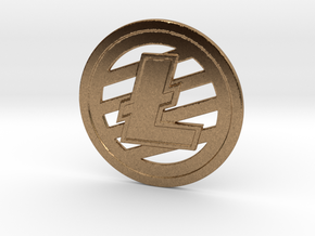 Litecoin (2.25 Inches) in Natural Brass