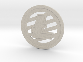 Litecoin (2.25 Inches) in Natural Sandstone