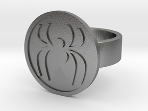 Spider Ring in Natural Silver: 8 / 56.75