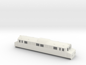 Swedish SJ electric locomotive type Mg - H0-scale in White Natural Versatile Plastic