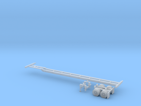N 53' Container Chassis in Smooth Fine Detail Plastic