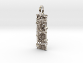 Cell Membrane Pendant - Science Jewelry in Rhodium Plated Brass