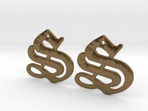 SISU (precious metal earrings) in Natural Bronze