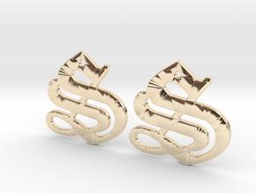 SISU (precious metal earrings) in 14k Gold Plated Brass