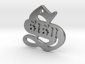 SISU (precious metal pendant) in Natural Silver
