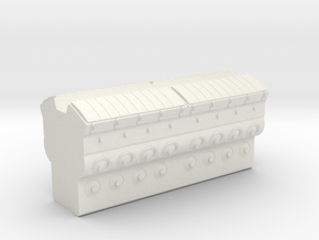 EMD 645 Block (O -1:48) in White Natural Versatile Plastic