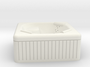 Jacuzzi Outdoor Hot Tub N-scale in White Natural Versatile Plastic