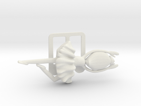 Clamp with ballerina for business cards in White Natural Versatile Plastic