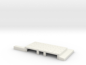 1/700 Light Jet Aircraft Hanger in White Natural Versatile Plastic
