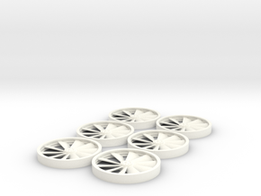 YT1300 DEAGO ENGINE FANS SET OPTION  in White Processed Versatile Plastic