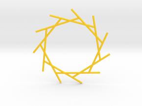 Eleven Rays Pendant in Yellow Processed Versatile Plastic