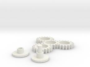 Spike Spinner in White Natural Versatile Plastic