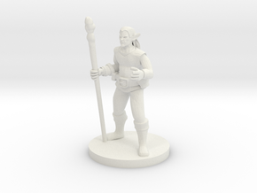 Male Elf Druid in White Natural Versatile Plastic
