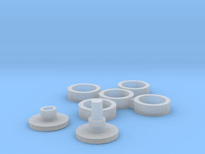Spinner Necklace in Smooth Fine Detail Plastic