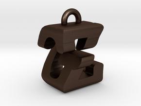 3D-Initial-GZ in Matte Bronze Steel