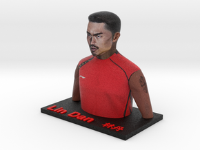 Lin Dan bust in Full Color Sandstone